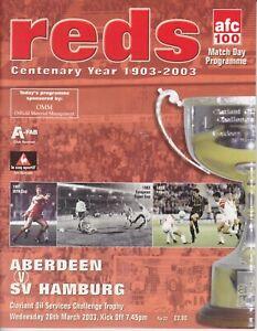 Aberdeen v SV Hamburg 26 Mar 2003