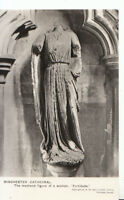 Hampshire Postcard - Winchester Cathedral - Medieval Figure of Women  Ref ZZ6151