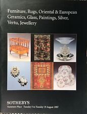 SOTHEBY'S Auction Catalog 8/5/1997 Furnitur Rugs Oriental Ceramics Glass Jewelry