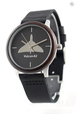 Vulcan motif watch, S/Steel case wood bezel, M/F, Friend or Foe, Miyota Quartz