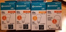 (4 Bulbs) 9W = 60W Equivalent 2700K Soft White A19 Non-Dimmable LED Light Bulb