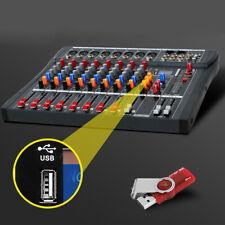 Professional  8 Channel Audio Mixer Bluetooth studio audio mixing Amplifier USA