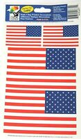 Color Clings Static Cling Car Window  Decorations USA American Flag