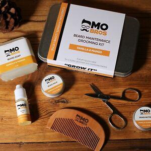 Beard Care XL Kit   Beard Oil, Balm, Wax, Soap, Scissors, Comb   Vanilla & Mango