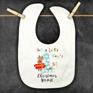 1st Christmas Personalised Baby,Toddler Bib, Xmas Personalised Bandana Bib,