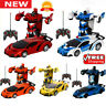 2 in1 Car Remote Control Vehicle Transformer Transforming Robot RC Cars Kids Toy