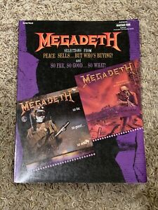 Megadeth Guitar Tab Tablature Selections From Megadeth Songbook