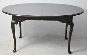 Stattion Old Towne Cherry Dining Room Table with 3 Leaves Queen Anne Style