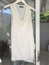 BASSIKE Round Neck Tank Layered Dress S1 Cream Merino Wool BNWOT