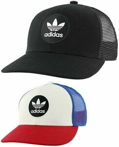 Adidas Mens Originals Mesh Trucker Target Snapback Cap Hat Red White Blue Black