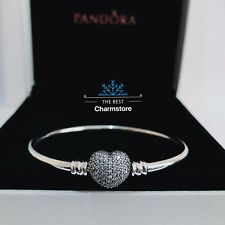 New Genuine Pandora Silver You Are Always In My Heart Bangle 590722CZ RRR£75