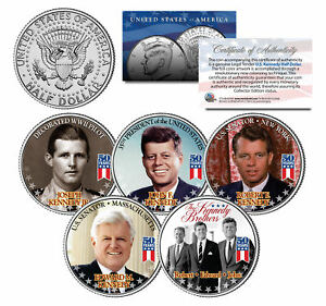 KENNEDY BROTHERS John Robert Ted Joe 2014 Anniversary JFK Half Dollar 5-Coin Set