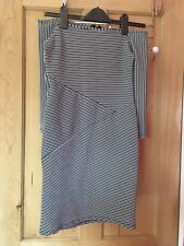 Miss Selfridge Striped Off Shoulder Bodycon Dress Size 6 Petite
