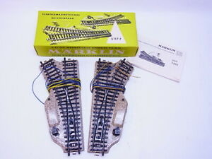 82252 Märklin H0 5117 Pair of Switches Right+Left Electric For M Track Boxed