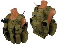 molle paintball milsim vest Airsoft Modular chest rig kit №57 coyote brown