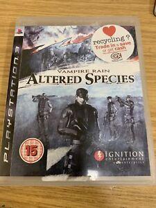Vampire Rain: Altered Species (Sony PlayStation 3, 2008) No Manual UK SELLER