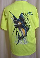 "Destin Florida T-shirt Sail Fish Deep Sea Fishing Pocket 40"" Chest L Unisex New"