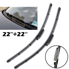 2xFront Windshield Flat Wiper Blades Front Window For Audi A4 B6 B7 S4 RS4 A6 C5