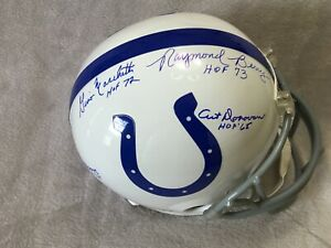 Baltimore Colts Signed Helmet - HOFs Berry, Moore, Donovan, Marchetti - JSA AUTH