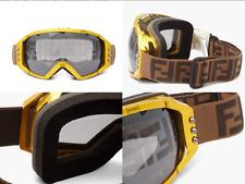 Fendi Cloutés Pointe Ff Jacquard Sangle Ski Lunettes Protectrices Sunglasses New