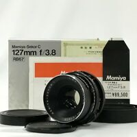 Mamiya Sekor C 127mm F3.8 for RB67 Pro S SD w/ Box Hood Cap Manual [JC]