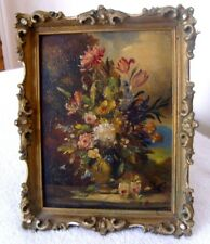 A GODWIN active(1880-1920) OIL ON BOARD - STILL LIFE, BASKET OF FLOWERS - SIGNED