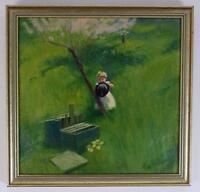 GIDEON MATTHEW FIDLER (1857-1942) Oil Painting CHILD IN LANDSCAPE c1930