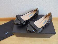 Prada Lackleder Ballerinas UVP 549€ Schuhe Tasche Pumps Mokassins Gr. 35 35,5 36