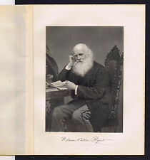 William Cullen Bryant - Poet & Editor-1873 Steel Engraving