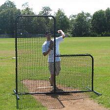 7' x 7' Commercial Baseball Pitcher's L-Screen Frame w/ #36 P.E. Pillowcase Net