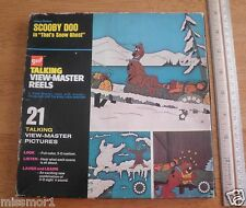 Scooby Doo 1972 Talking View-master set That's Snow Ghost in box NICE!