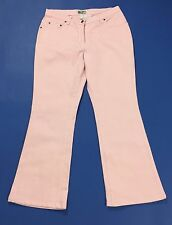 Maxime jeans donna w36 tg 50 zampa bootcut usato rosa pink comoda pants T1863