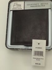Men's Black Geoffrey Beene PassCase BiFold Wallet- $40 MSRP - 25% off