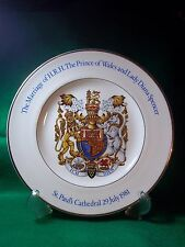 Prince Charles & Princess Diana Marriage Commemorative Plate by Wood & Sons