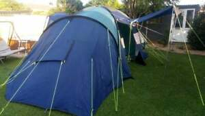 Large Family Dome Plus Tent 2 Bedrooms Camping Holiday Festival