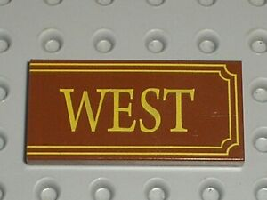 LEGO TOY STORY tile with WEST pattern ref 87079pb005 / Set 7597 Western Train