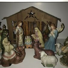 13 Piece Nativity Set Made In China 6 Inches Tall Colorful & Intricate Complete