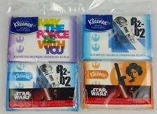 Star Wars Kleenex Tissues R2D2 May The Force Be With You Leia 4 Packs New