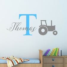 Personalised Tractor Wall Sticker Wall Decal Childrens Kids Nursery Bedroom