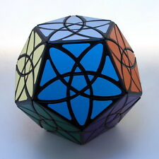 Black Mf8 12 Sided Bauhinia Dodecahedron Maigc Cube Twist Puzzle Brainteaser Toy