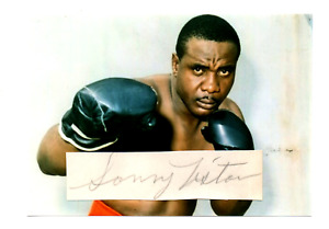 Sonny Liston original hand signed autograph