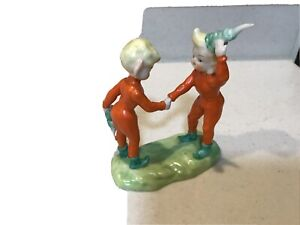 Vintage Japan  Lenwile China Christmas Holiday Pixie Elves Figurine Stamped