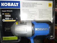 """BRAND NEW KOBALT SGY-AIR236 1/2"""" 1000LB MAX AIR IMPACT WRENCH #0840780 SC000"""