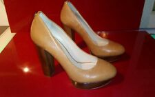 Guess shoes brown block heels size 6.5 women's good condition
