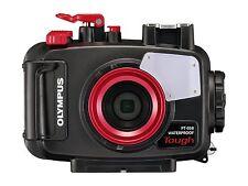 Olympus Pt-058 Unterwassergehäuse für Tg-5 Digitalkamera Schwarz/rot