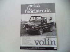 advertising Pubblicità 1987 VOLIN