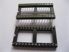 100 pcs IC Socket Adapter Pitch 2.54mm 28 PIN Round DIP High Quality X=15.24mm
