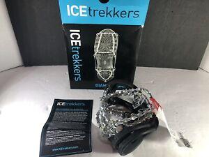 Yaktrax ICE Trekkers Diamond Grip Ice Cleats Size Medium New Open Box