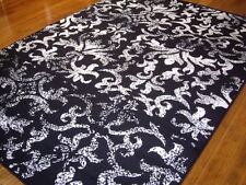 Extra Large Rug Black White Modern Floor Rug Carpet Mat 290 x 200 011434