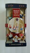Sports Bear Music Mobile Attaches To Wall Or Baby Crib Nib Nursery Calming